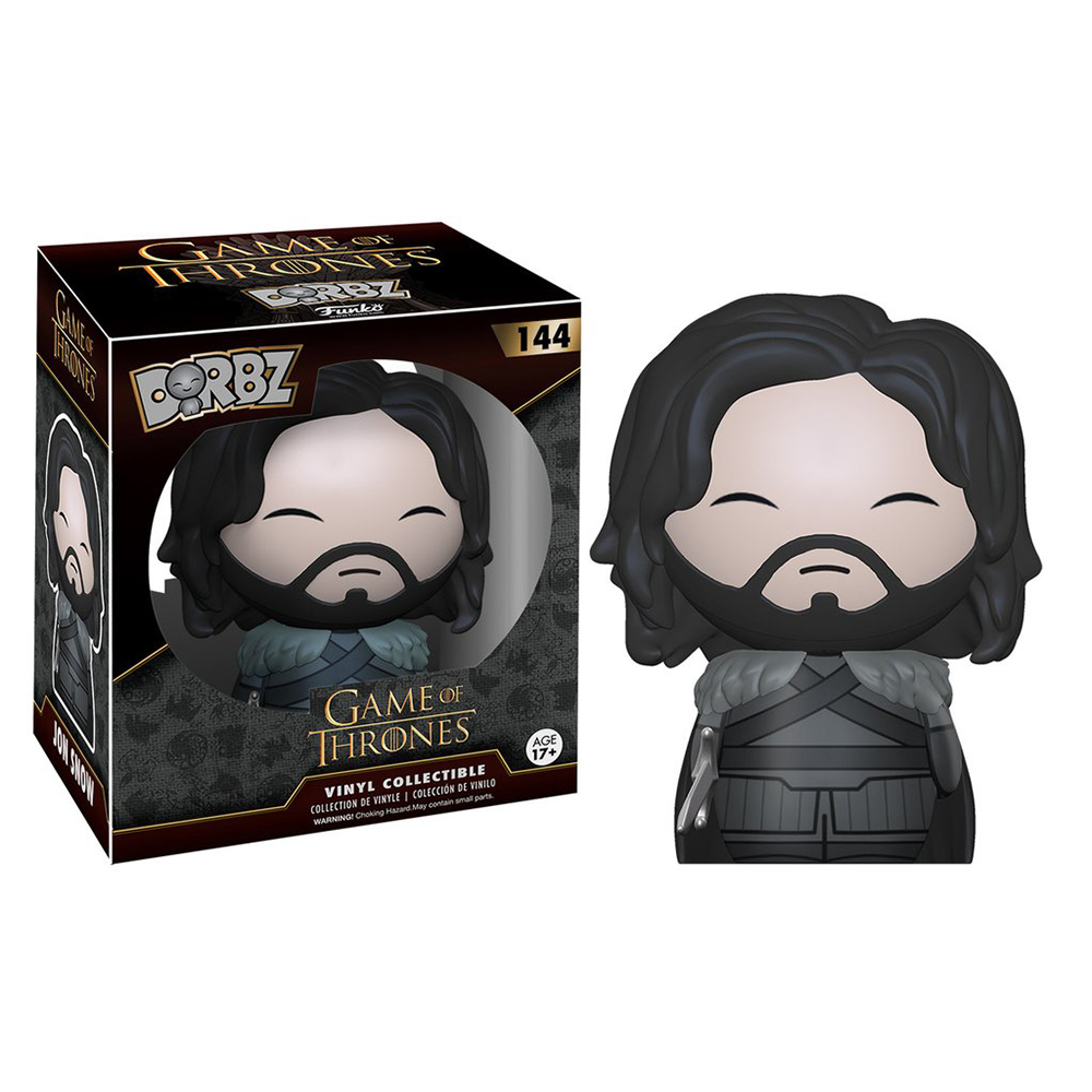 game of thrones dorbz, jon snow, vinyl collectible, funko