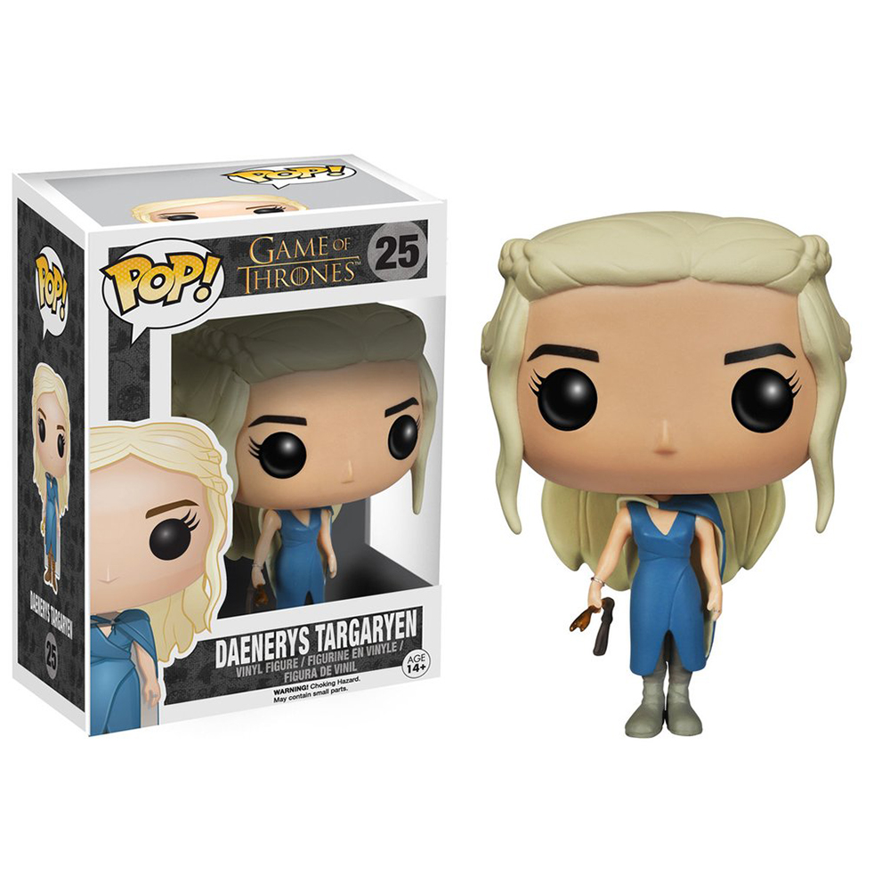 game of thrones funko pop vinyl, daenerys targaryen, blue dress, season 3, mhysa, astapor