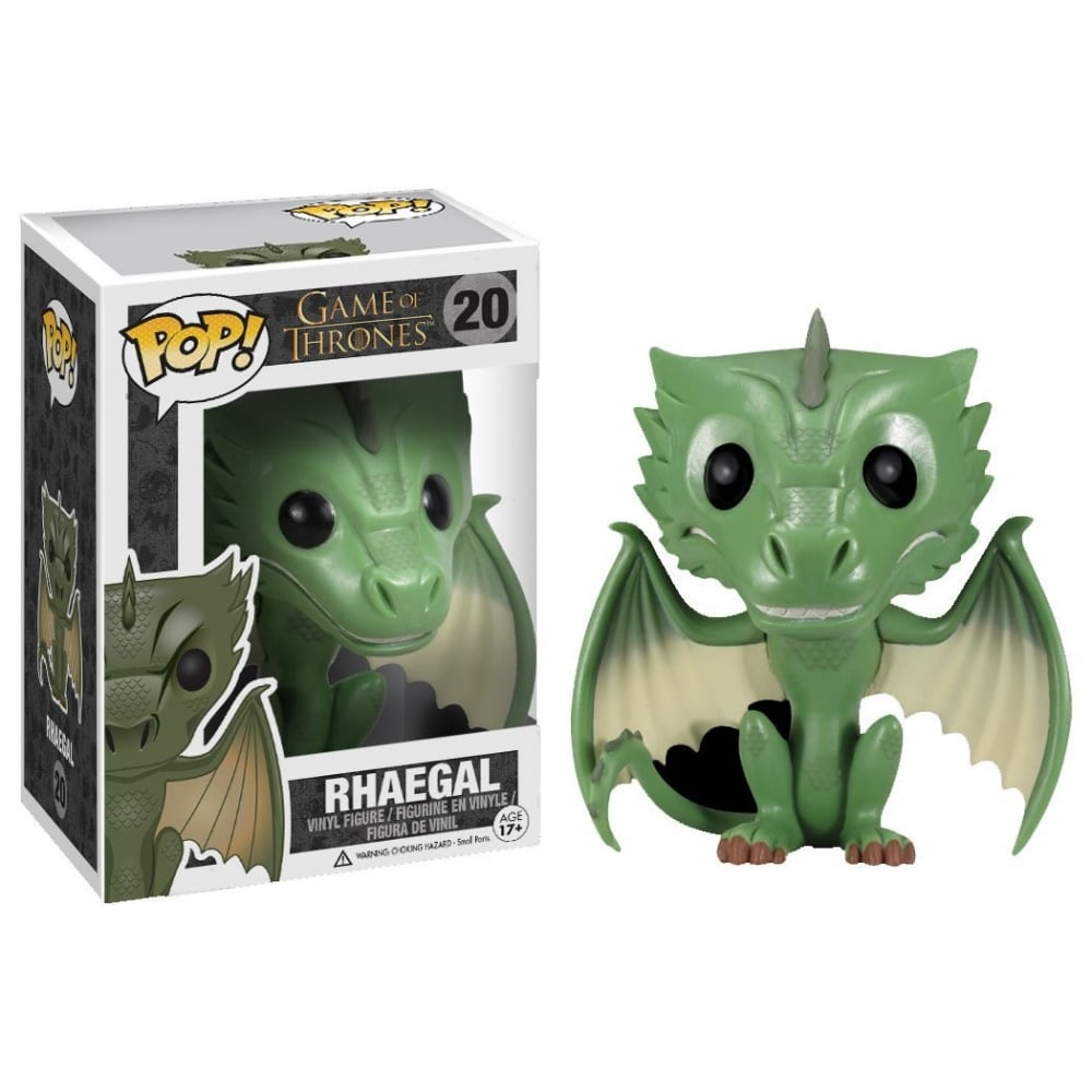 game of thrones funko pop vinyl, rhaegal, dragon
