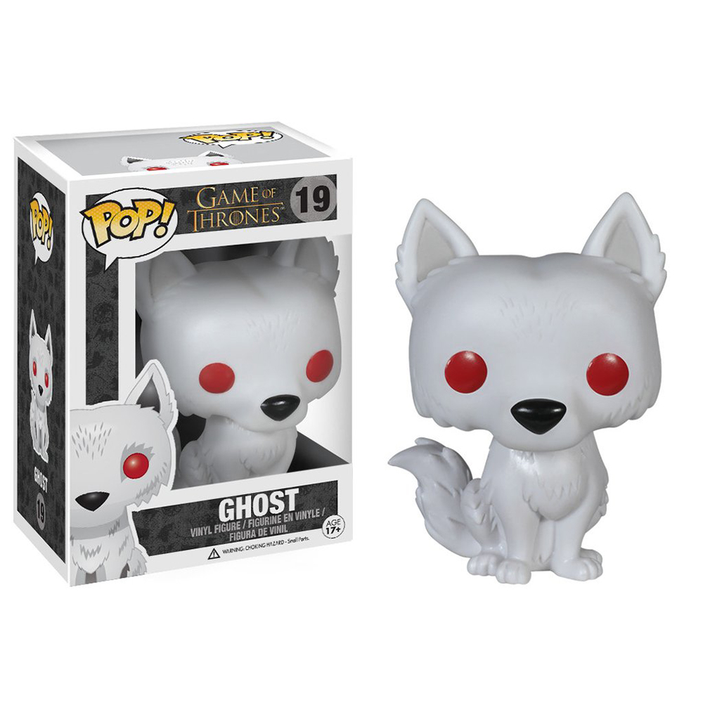 game of thrones funko pop vinyl, ghost, direwolf