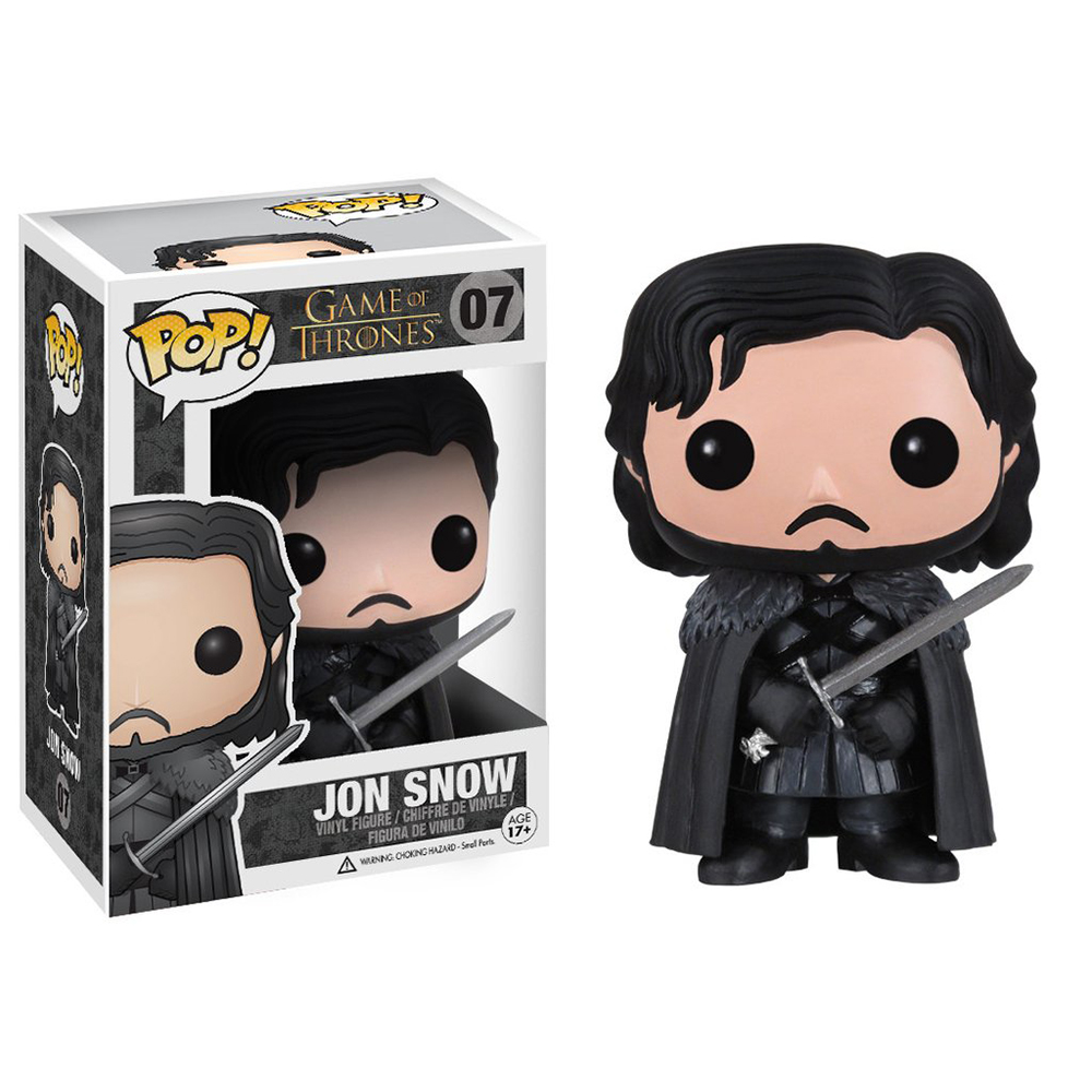 game of thrones funko pop vinyl, jon snow, castle black