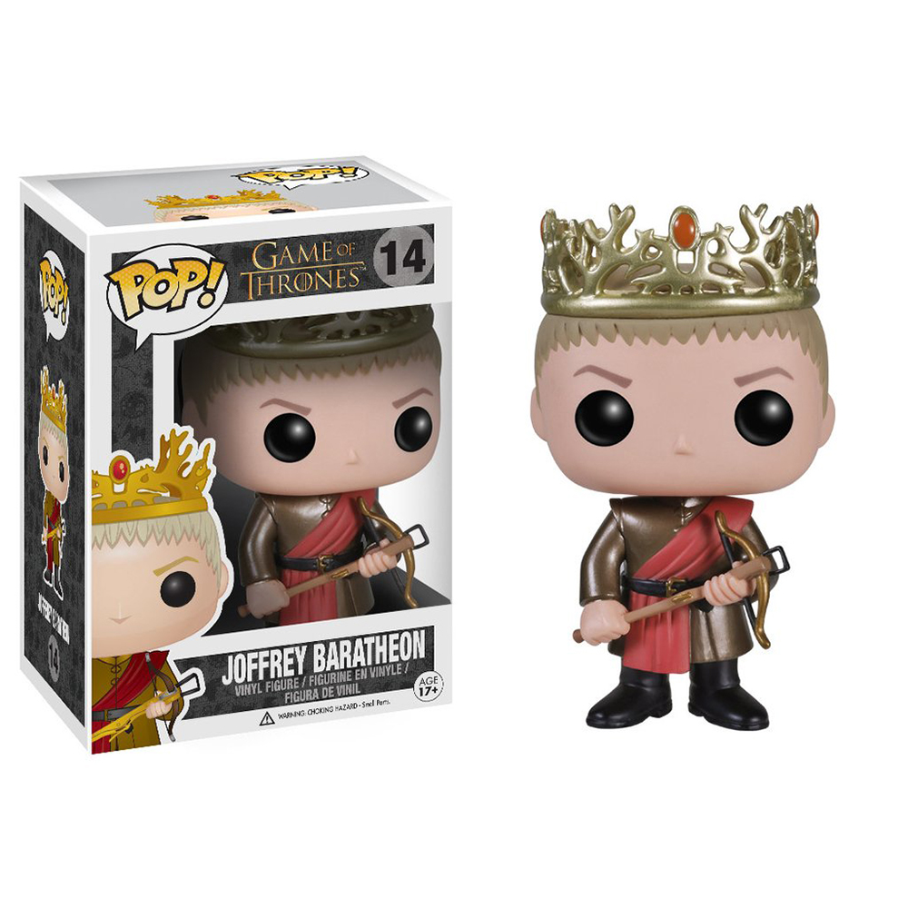 game of thrones funko pop vinyl, king joffrey baratheon