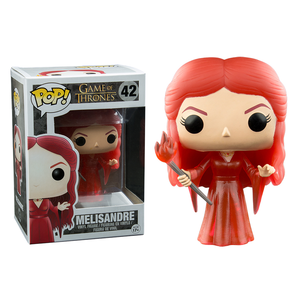 game of thrones funko pop vinyl, melisandre, translucent