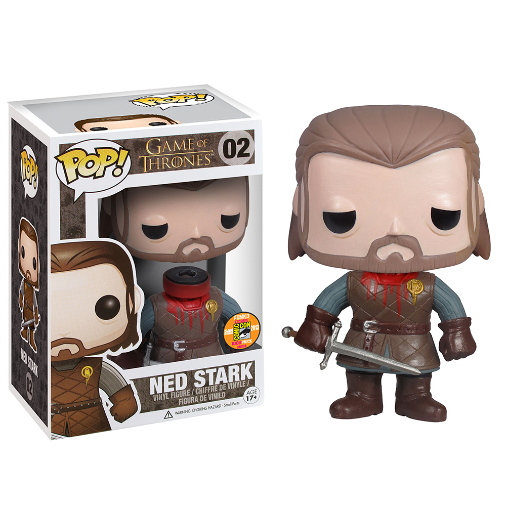 game of thrones funko pop vinyl, headless ned stark