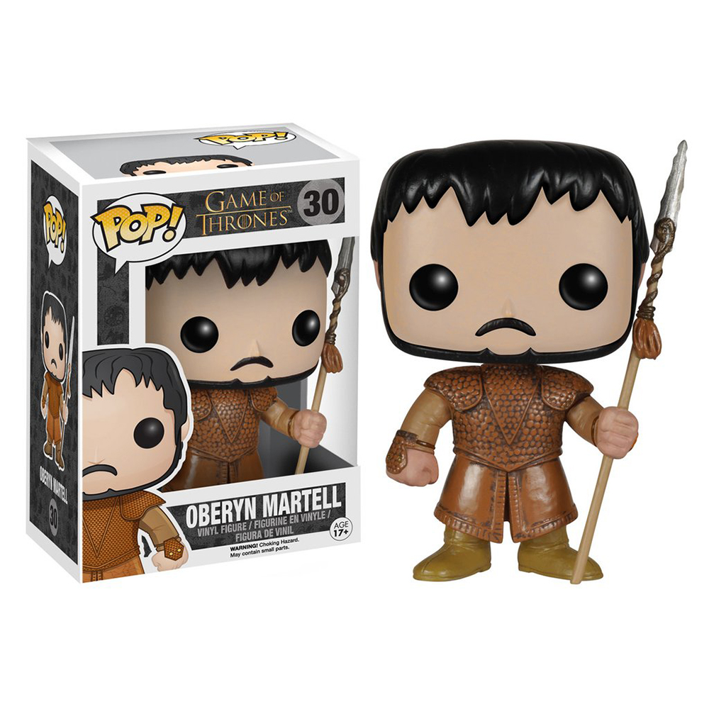 game of thrones funko pop vinyl, oberyn martell, red viper of dorne