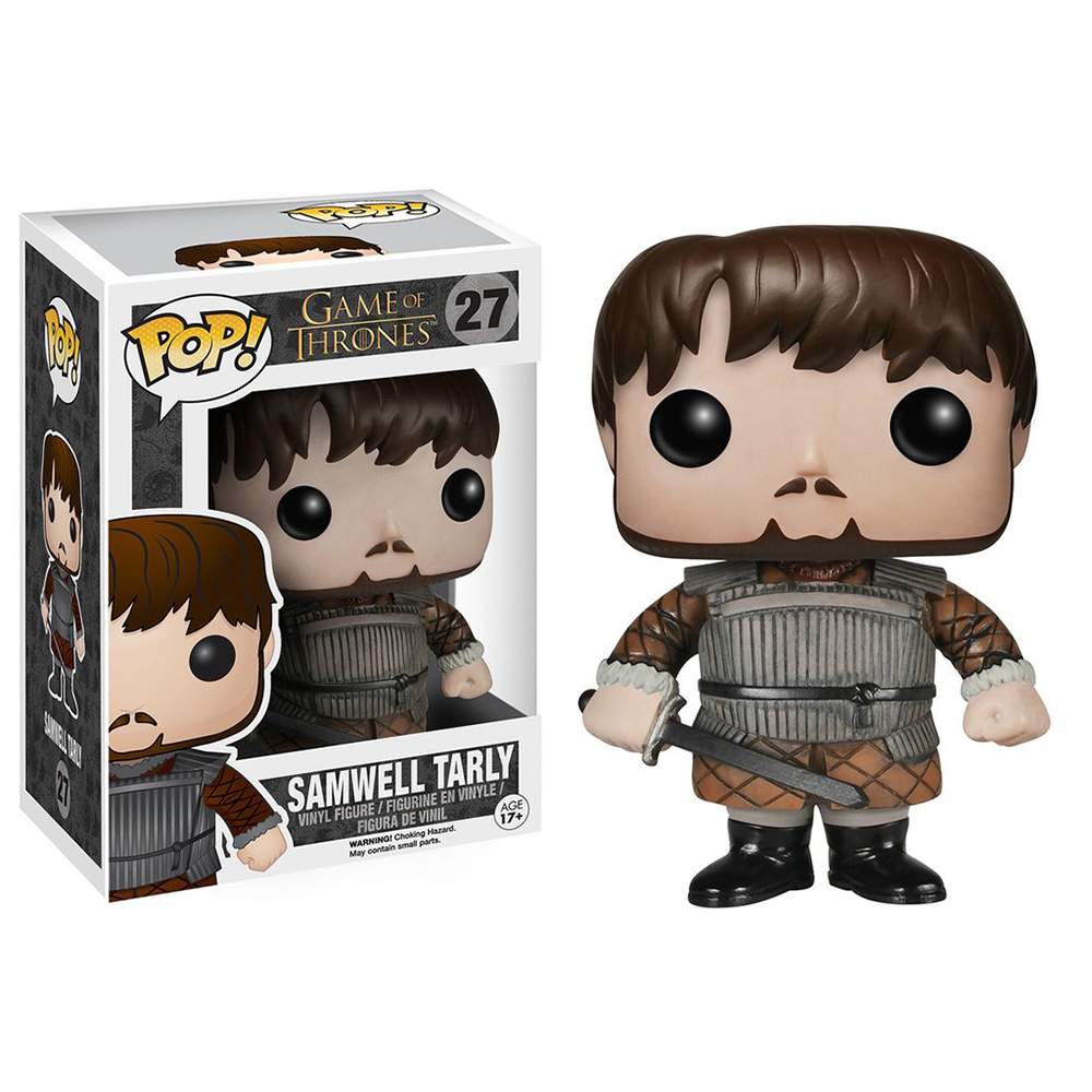 game of thrones funko pop vinyl, samwell tarly, training grounds