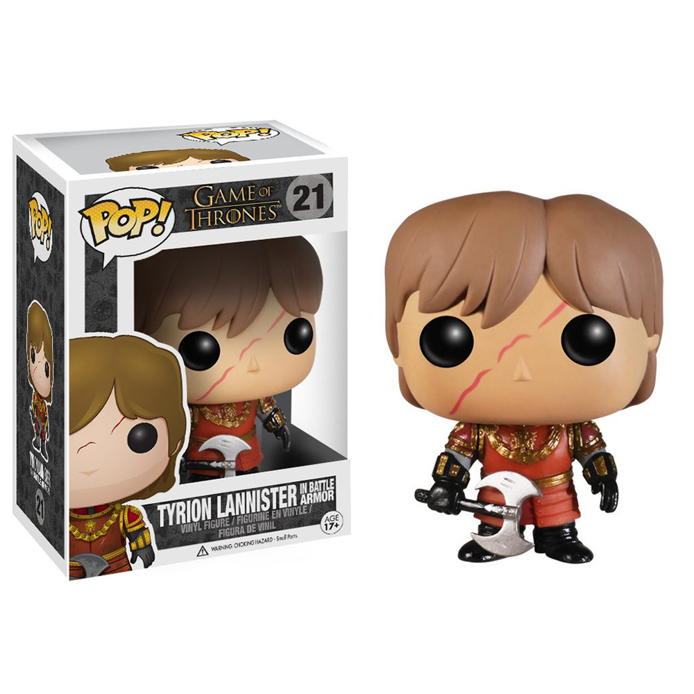 game of thrones funko pop vinyl, tyrion lannister, battle axe, scar, battle of the blackwater
