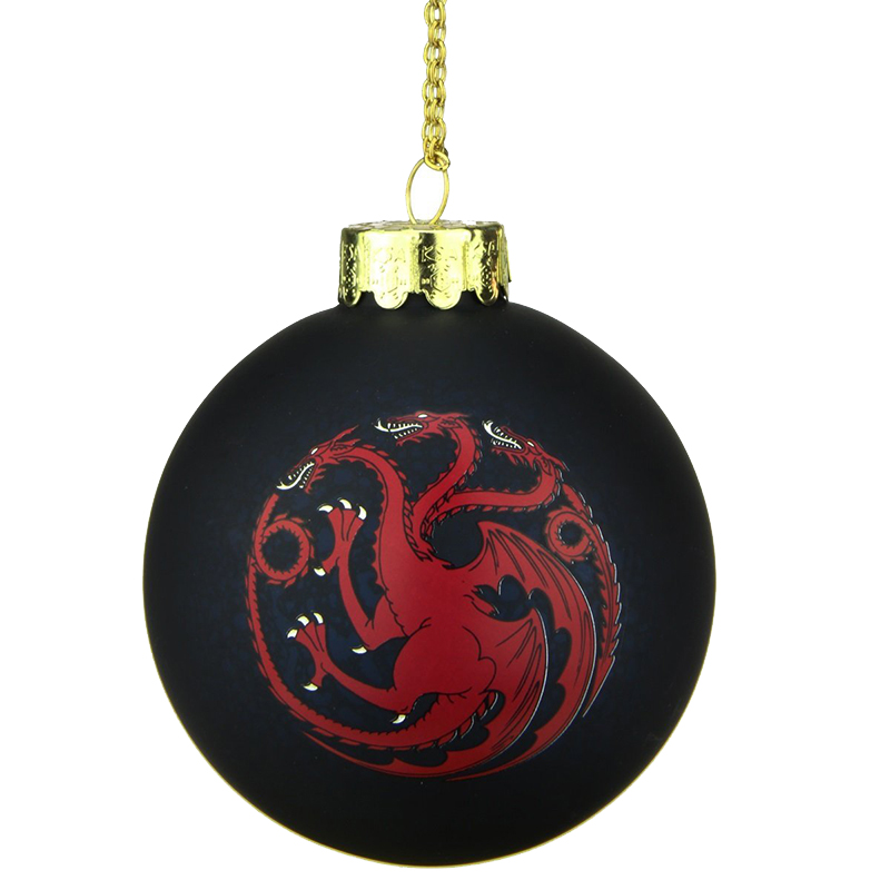 game of thrones christmas decorations, house targaryen ornament