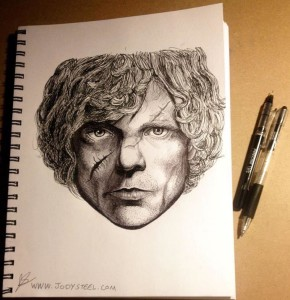 game of thrones, fan art, tyrion, jody steel