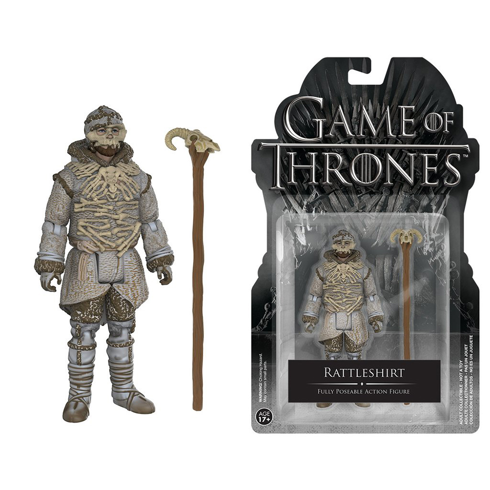 game of thrones action figures, rattleshirt, lord of bones