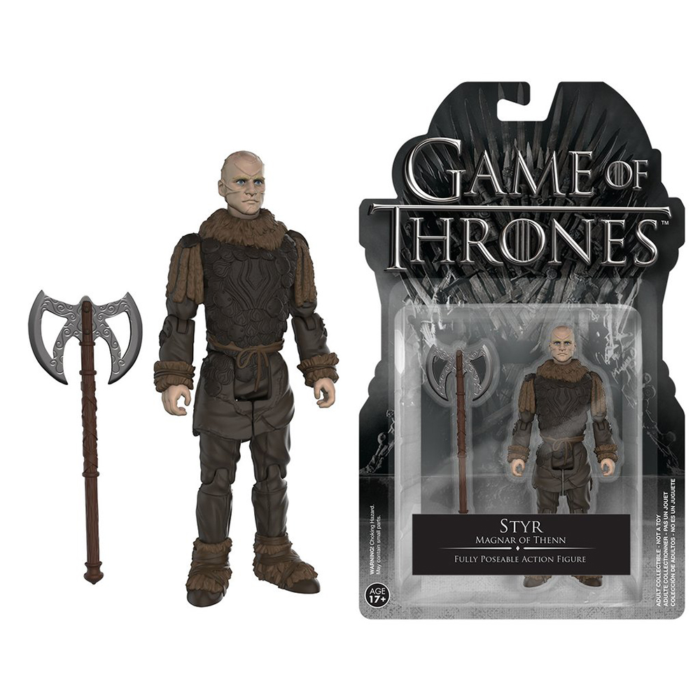 game of thrones action figures, styr, magnar of thenn