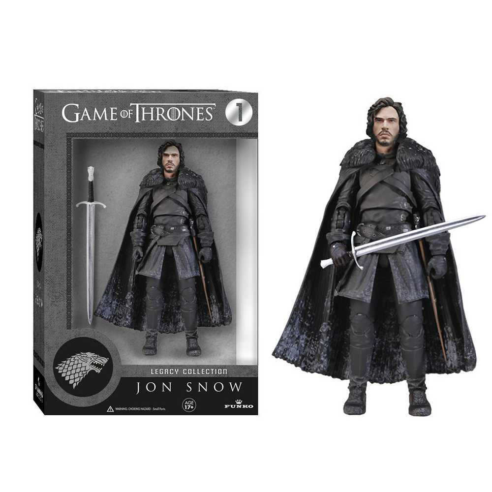 game of thrones legacy collection, jon snow, action figure