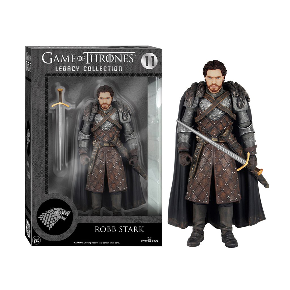 game of thrones legacy collection, robb stark, action figure