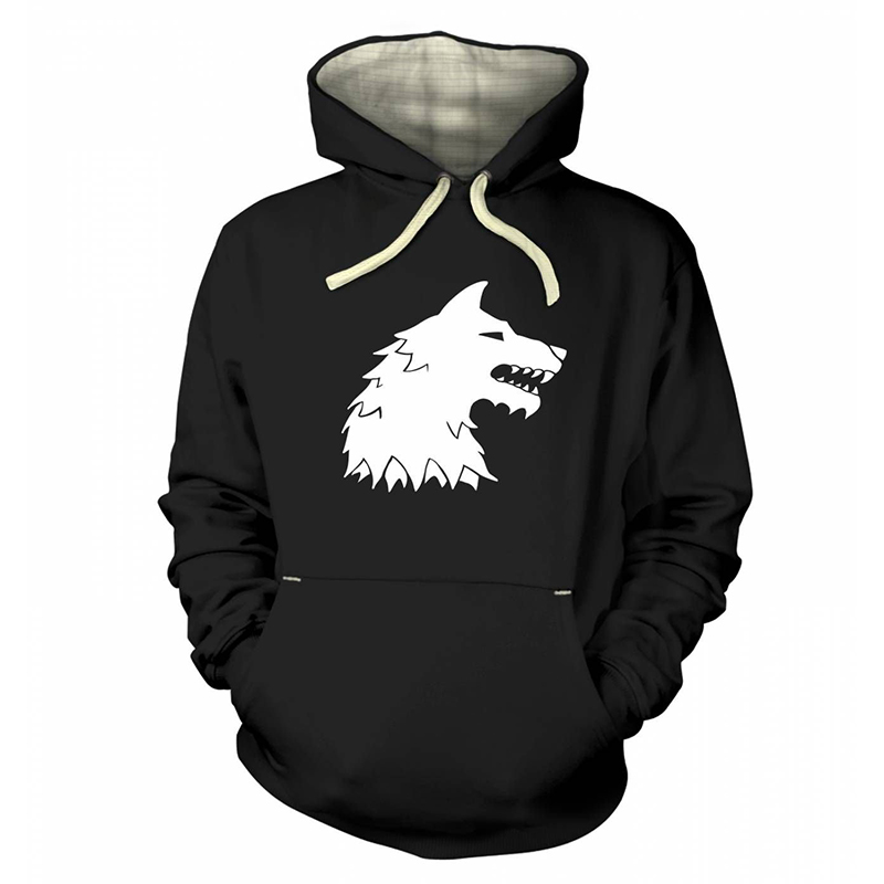 game of thrones winter apparel, direwolf hoodie