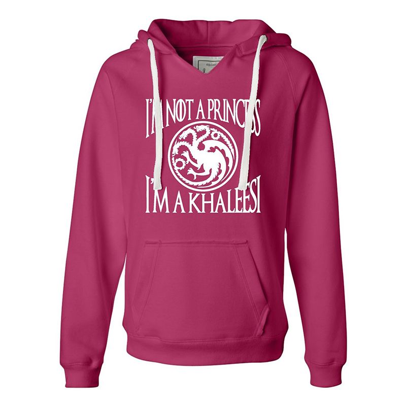 game of thrones winter apparel, i'm not a princess I'm a khaleesi hoodie.