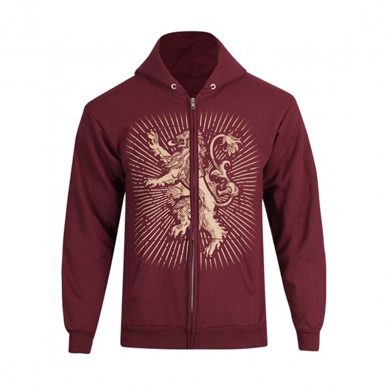 house lannister zip up hoodie
