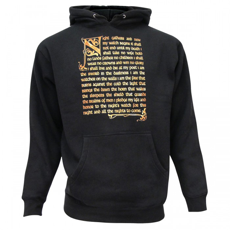 game of thrones winter apparel, night's watch distressed hoodie