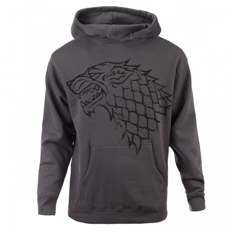 game of thrones winter apparel, house stark distressed hoodie