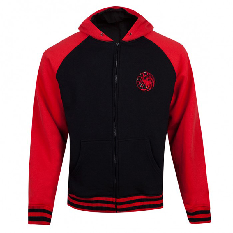 game of thrones varsity hoodie, house targaryen, game of thrones winter apparel