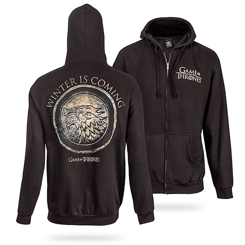 game of thrones winter apparel, winter is coming hoodie
