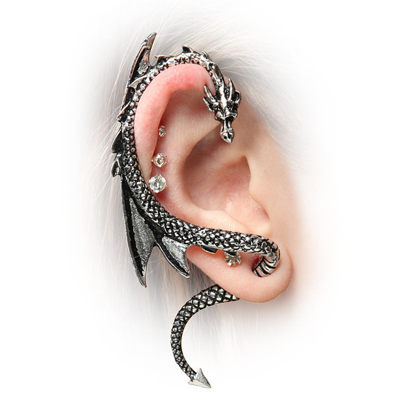 game of thrones jewelry, dragon ear wrap
