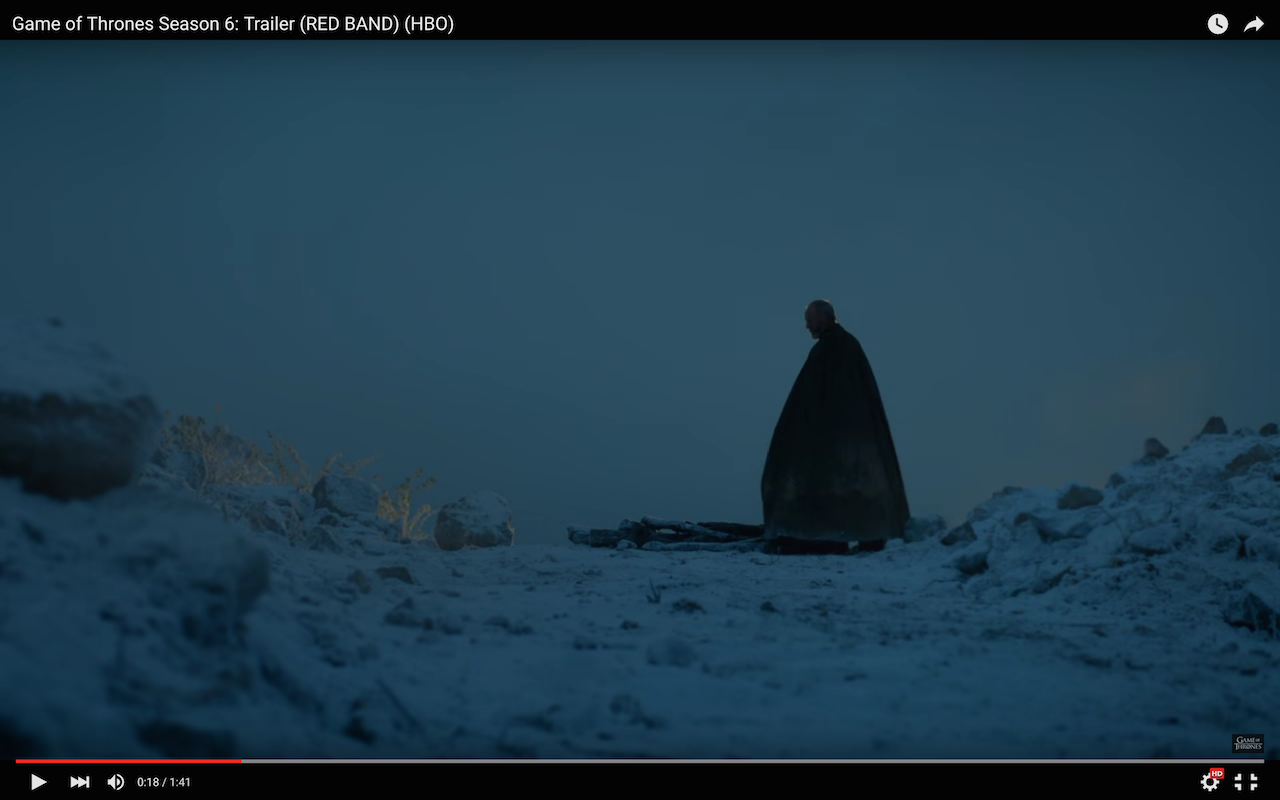 game of thrones season 6 trailer, ser davos seaworth