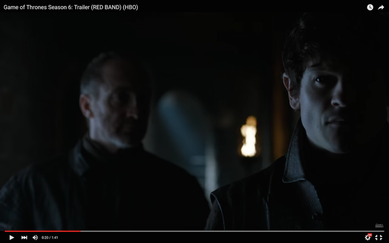 game of thrones season 6 trailer, roose and ramsay bolton