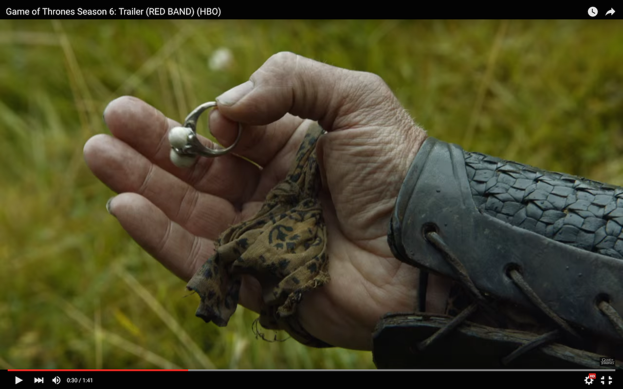 jorah finds daenerys targaryen's ring
