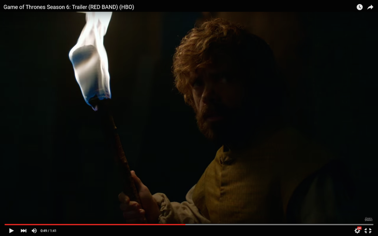 game of thrones season 6 trailer, tyrion lannister