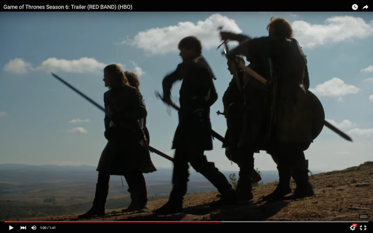 game of thrones season 6 trailer, battle at tower of joy