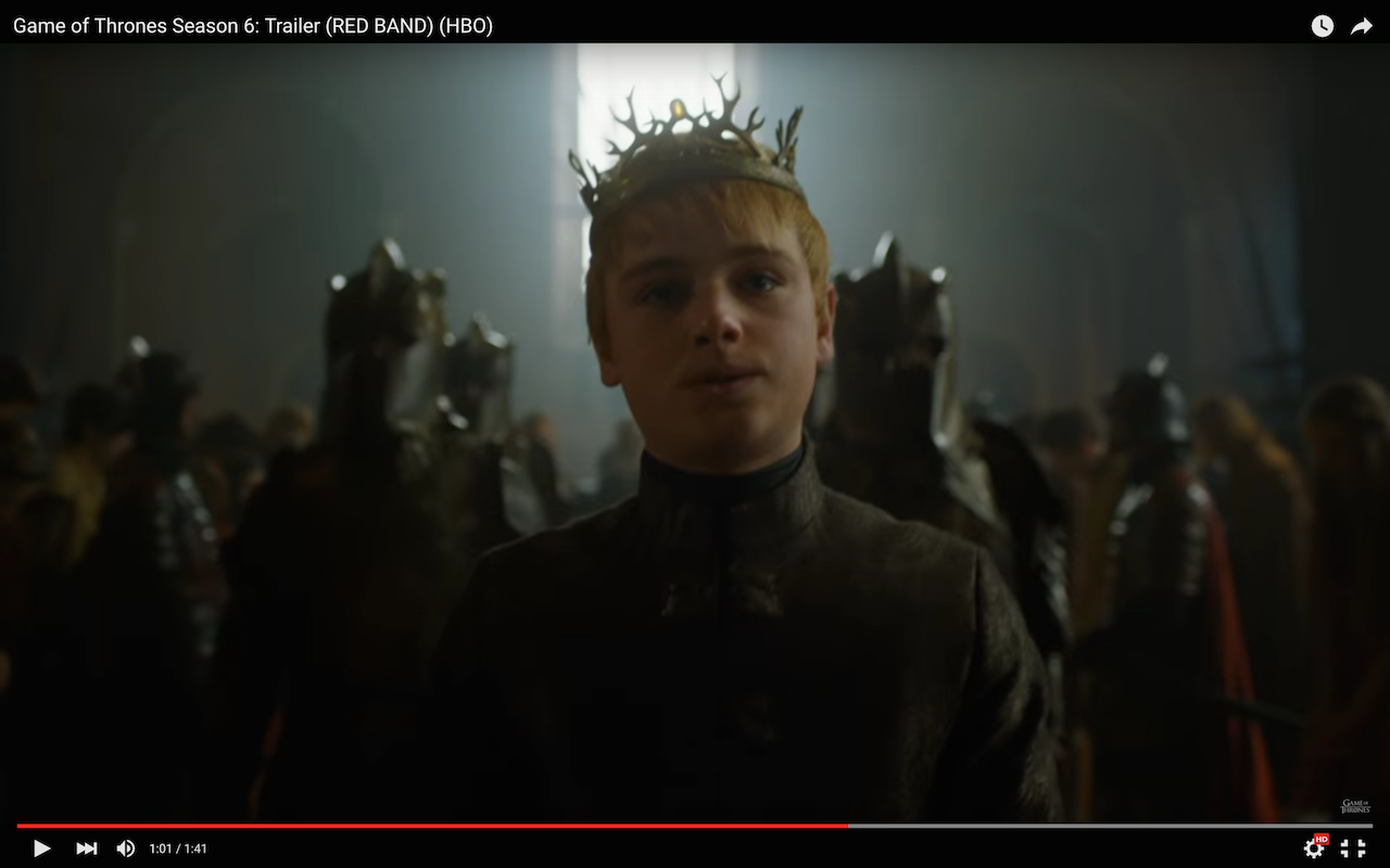 game of thrones season 6 trailer, tommen baratheon, the red keep