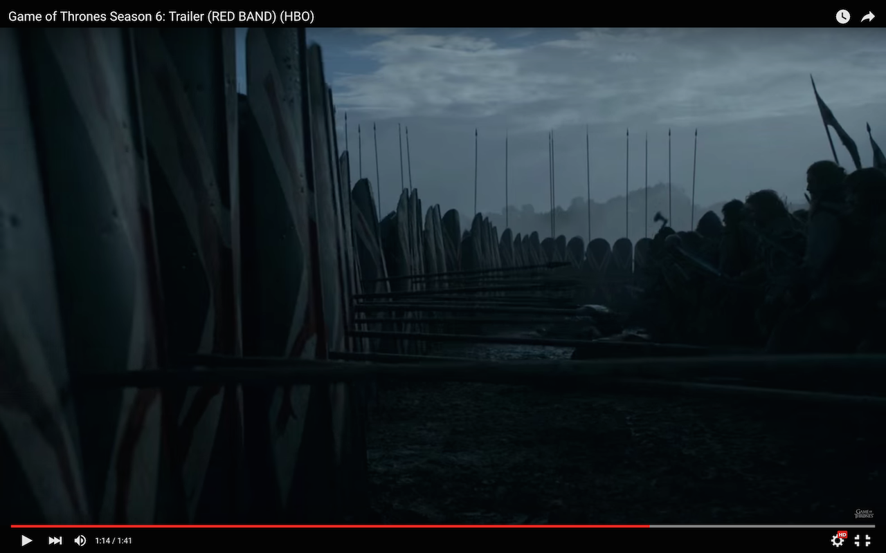 game of thrones season 6 trailer, bolton army, wildlings
