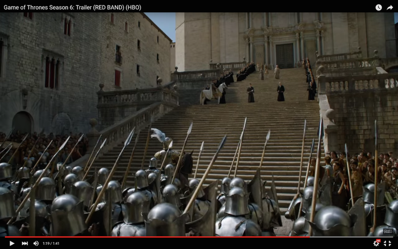 king's landing, king's guard, faith militant, standoff on steps