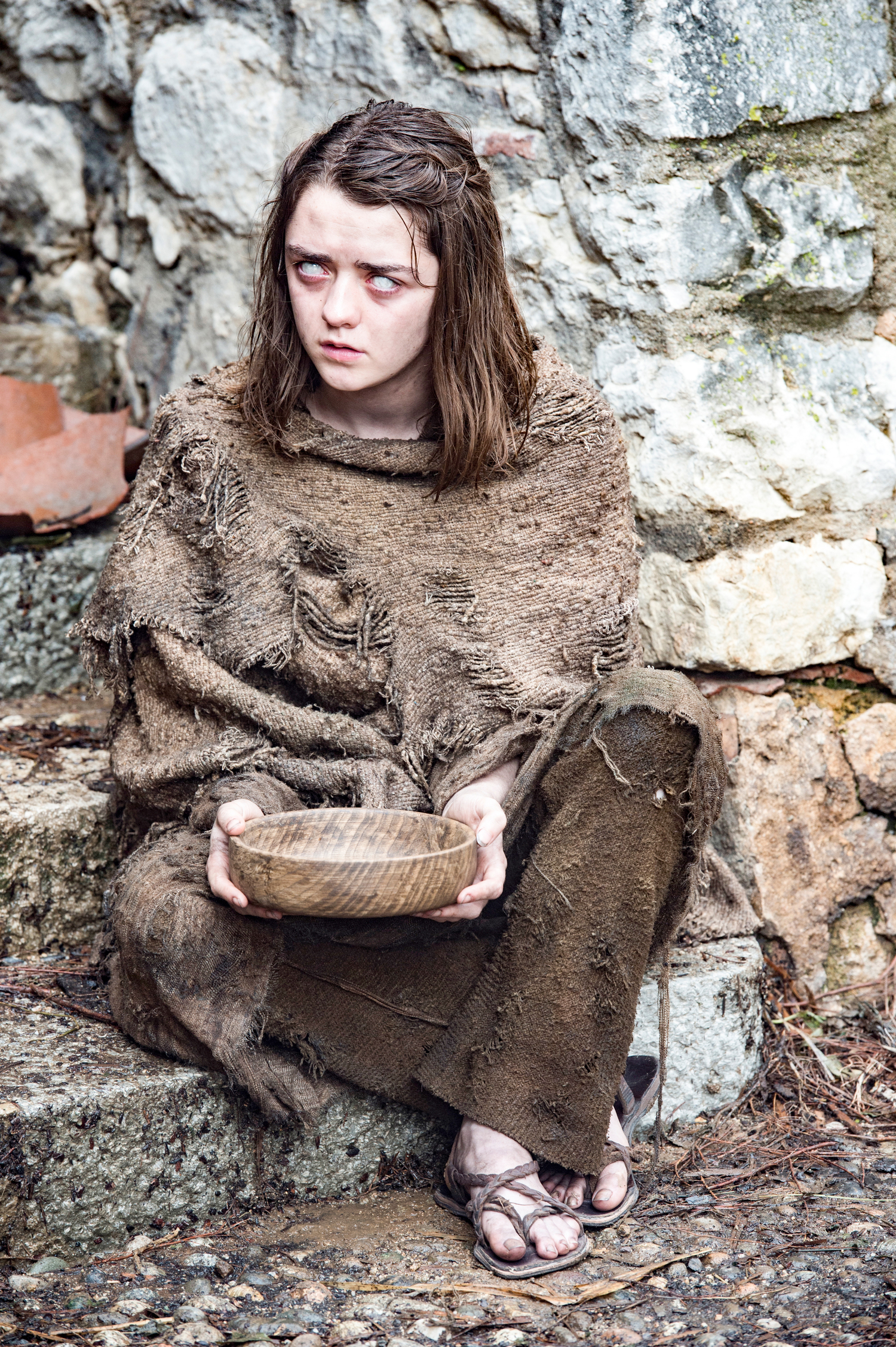 game of thrones season 6 photos, arya stark, blind