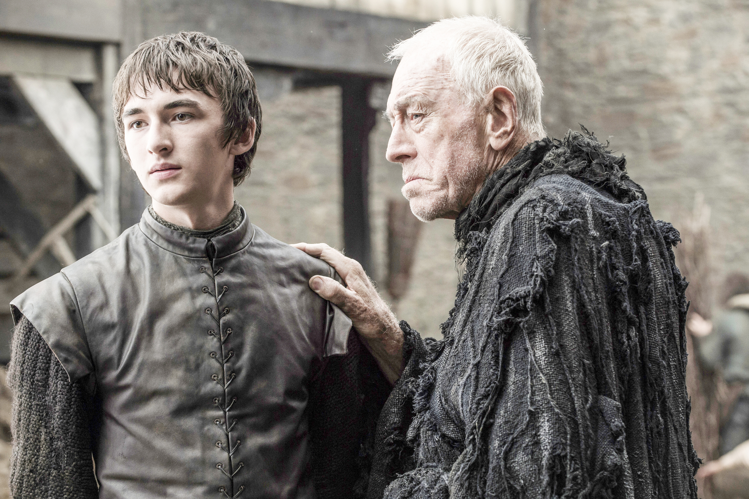 game of thrones season 6 photos, bran stark, max von sydow, three eyed raven