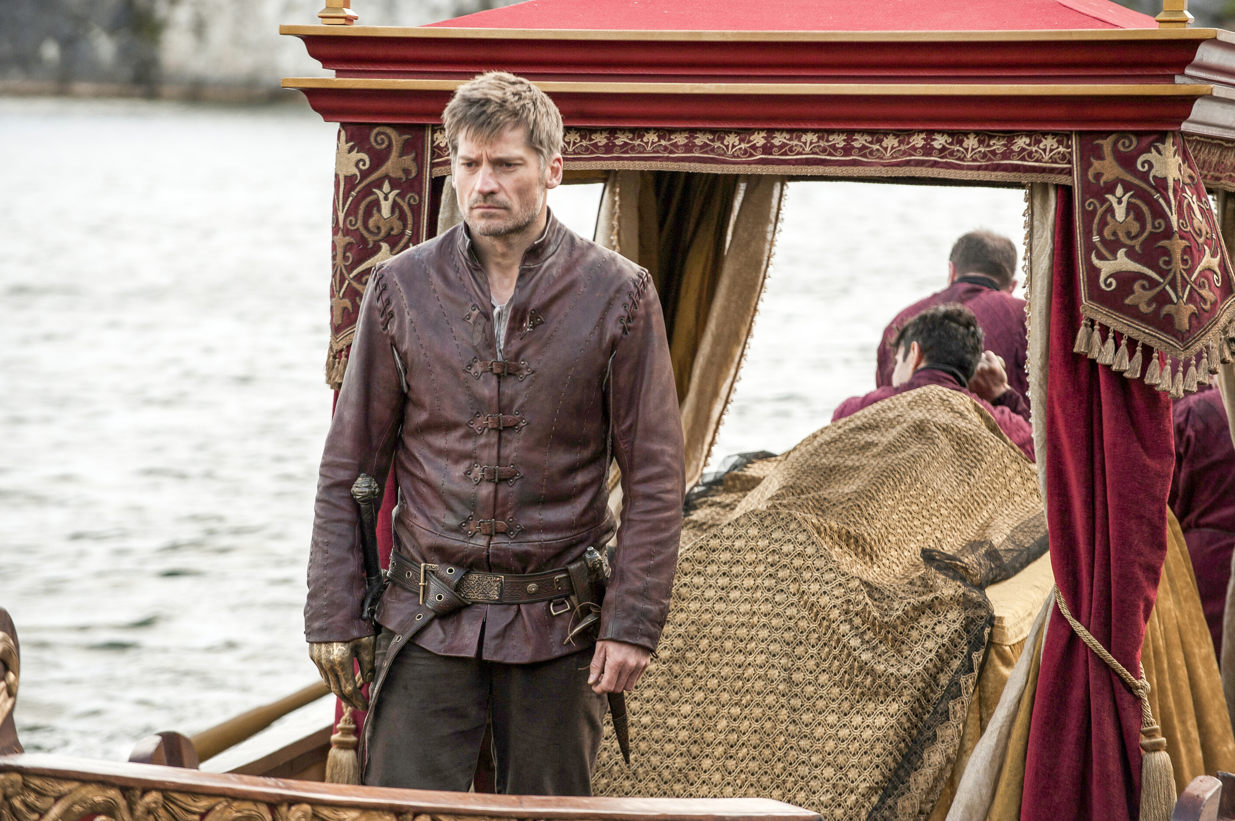 game of thrones season 6 photos, jaime lannister, myrcella, boat