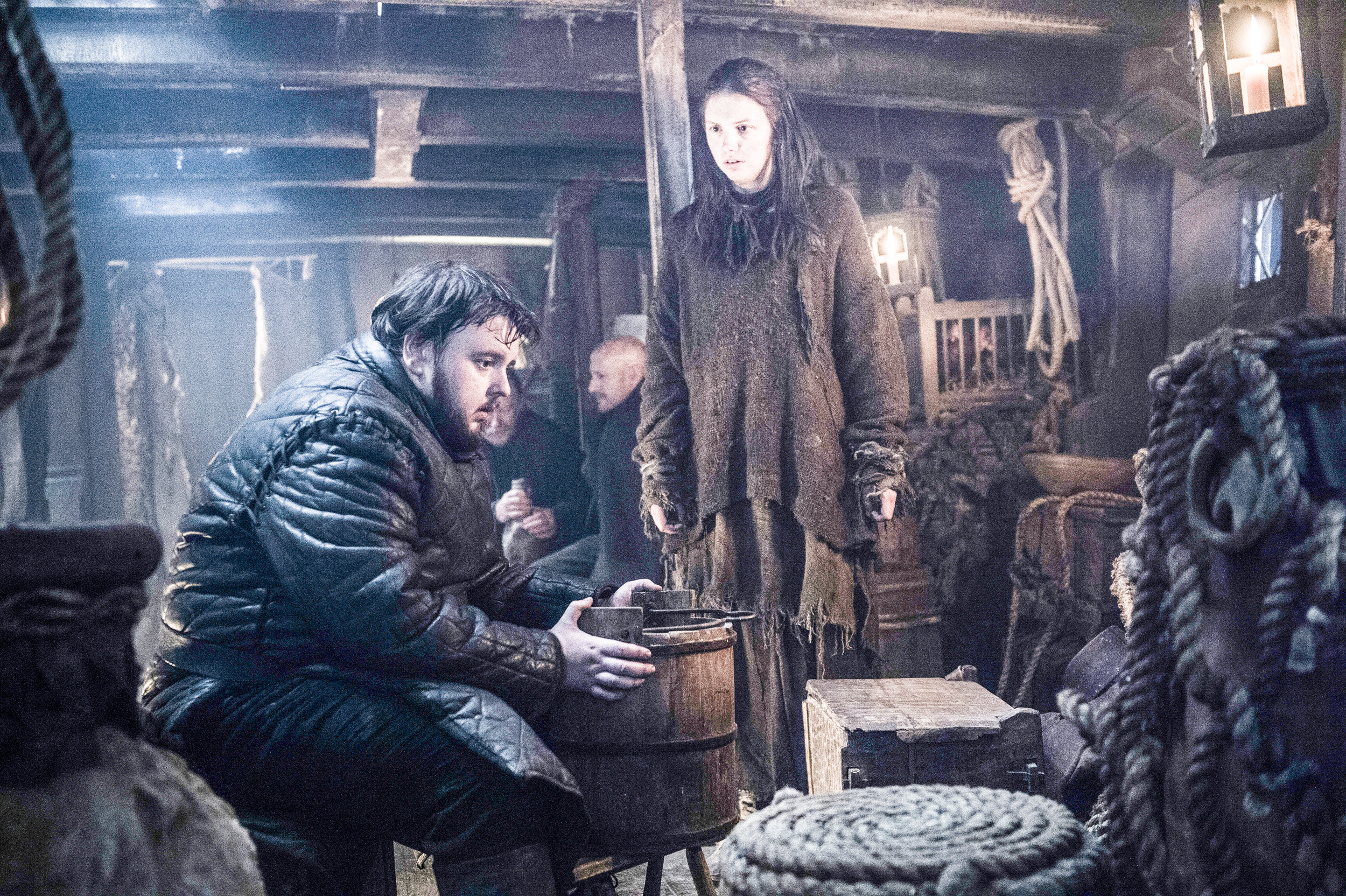 game of thrones season 6 photos, samwell tarly, gilly