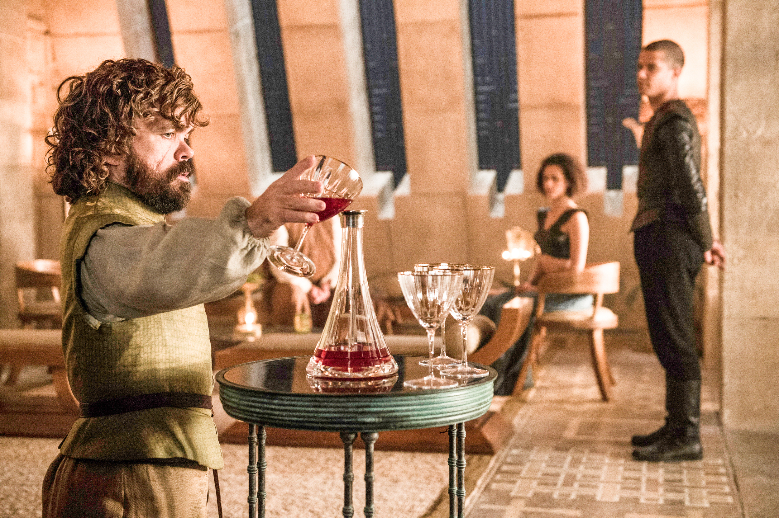 game of thrones season 6 photos, tyrion lannister, grey worm, missandei
