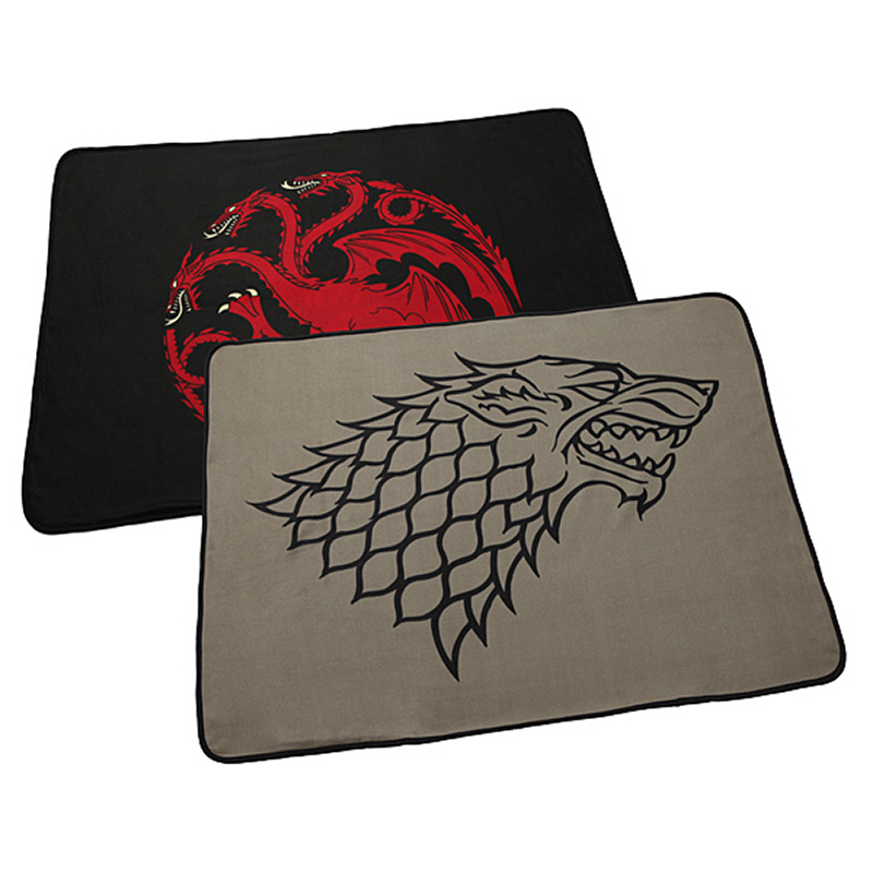 game of thrones house targaryen, house stark fleece blanket.