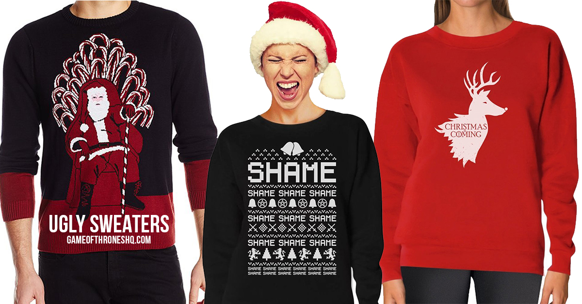 game of thrones christmas, game of thrones ugly christmas sweaters, ugly sweaters