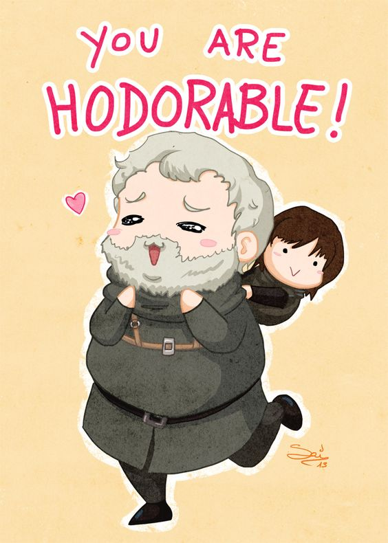 game of thrones valentine's day cards, hodorable hodor
