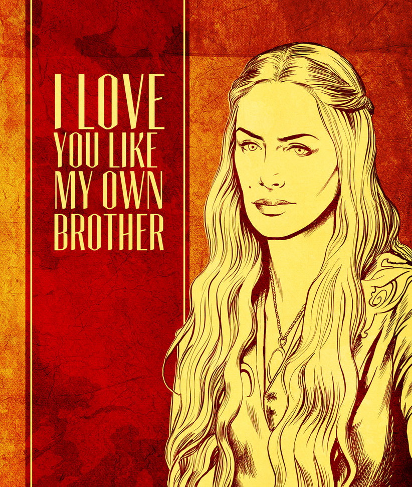 game of thrones valentine's cards, cersei lannister