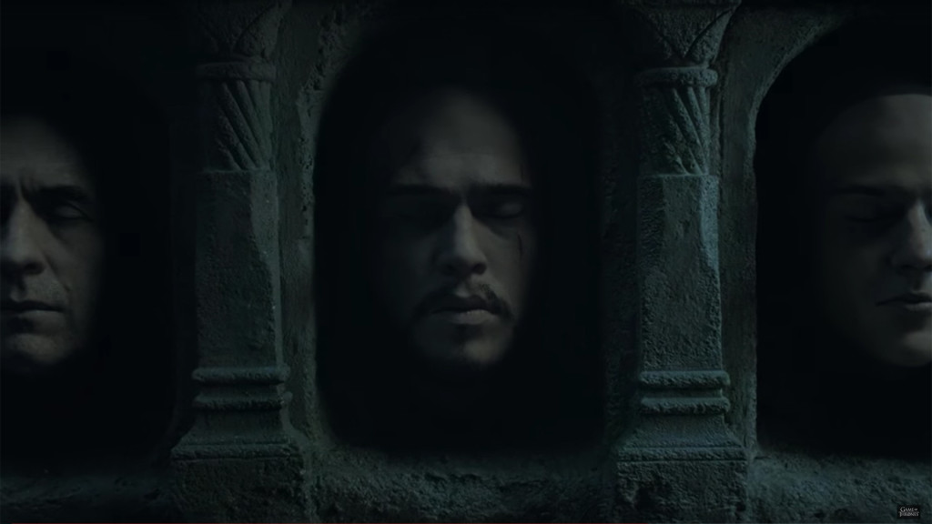 game of thrones season teaser, hall of faces, jon snow