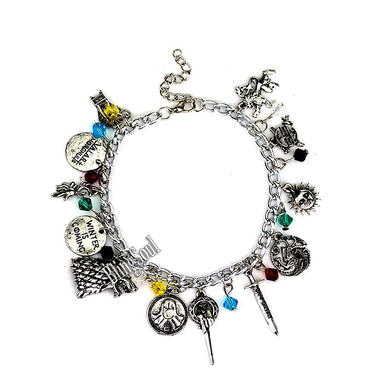 game of thrones valentine's gifts, house charm bracelet