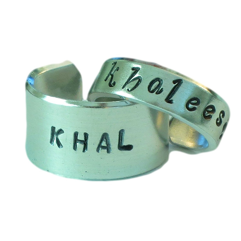 game of thrones valentine's gifts, khal khaleesi matching rings