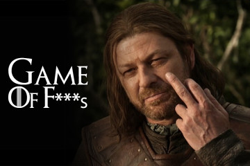 game of thrones, swear words