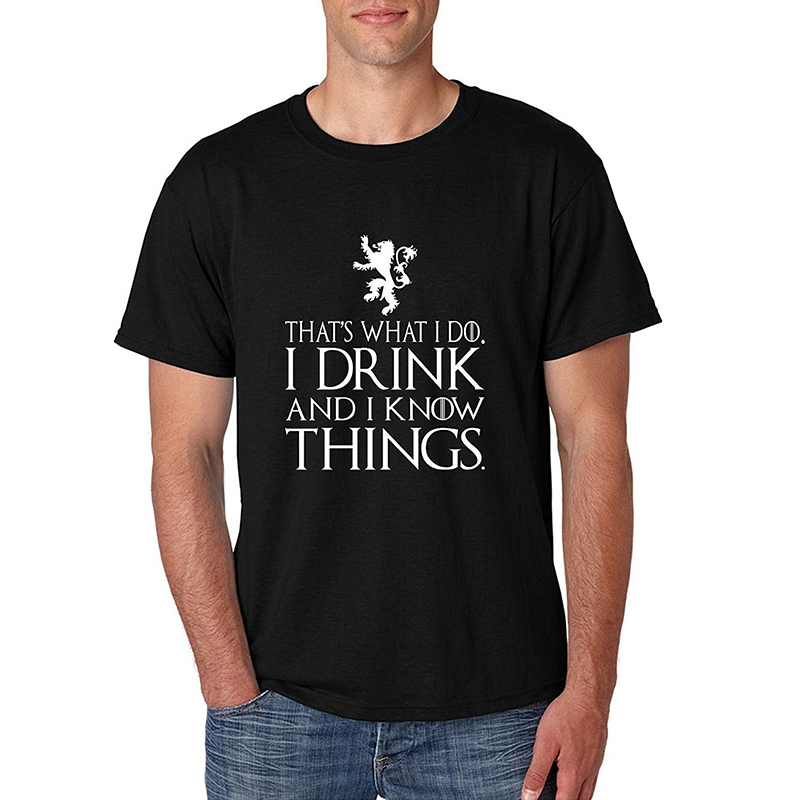 game of thrones valentine's gifts, i drink and I know things, men's t-shirt