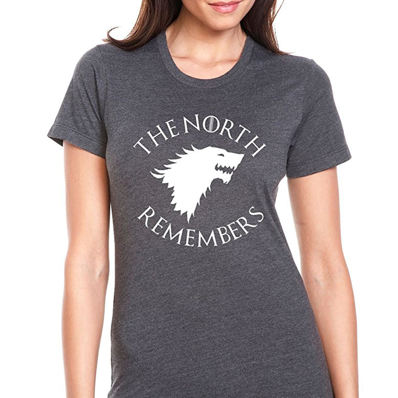 game of thrones valentine's gifts, the north remembers, women's t-shirt