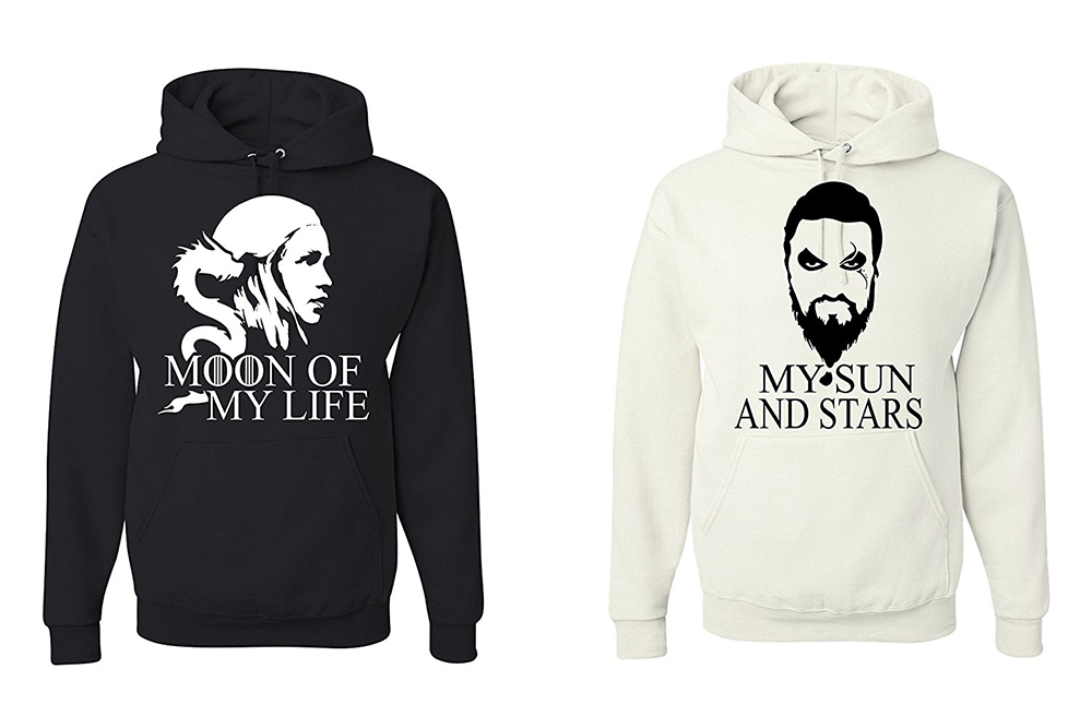 game of thrones valentine's gifts, his and hers, moon of my life, sun and stars, sweaters