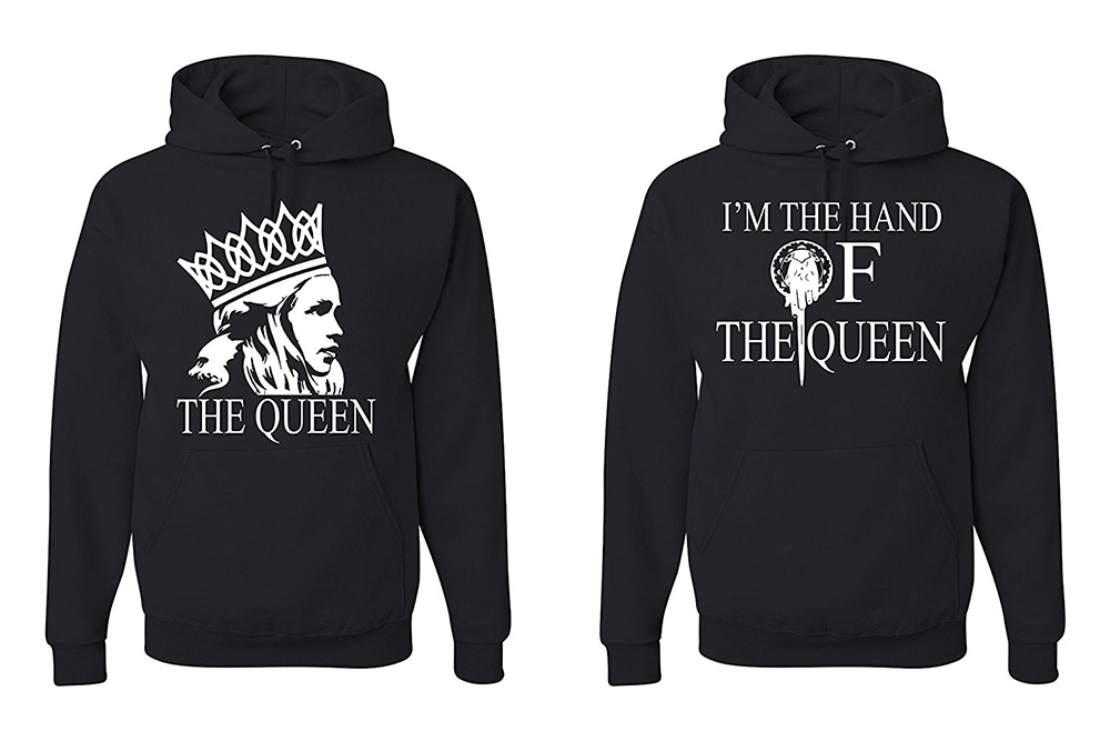 game of thrones valentine's gifts, his and hers hand of the queen sweaters